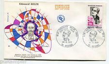 FRANCE 1972, FDC 1° JOUR, CELEBRITE, EDOUARD BELIN, timbre 1708, CELEBRITY