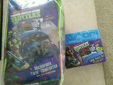 TMNT Teenage Mutant Ninja Turtles 4 Piece Twin/Single Size Comforter and Sheet