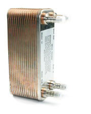 Brazed 30 Plates Heat Exchanger Homebrew Wort Chiller Gas Type Fitting 12.8mm