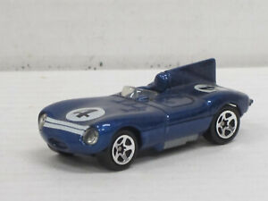 Jaguar D-Type in blaumetallic Nr.4, ohne OVP, Hot Wheels, ca. 1:64