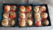 12 Christbaumkugeln, Tchibo, Weihnachten, nostalgische Motive,Originalverpackung