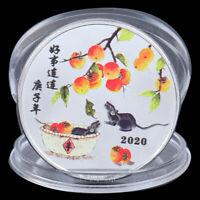 2020 Jahr der Ratte Gedenkmünze Maus Geld Souvenir Sammlermünze EH ZQ