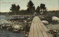 Raymond ME Steamboat Walk c1910 Postcard