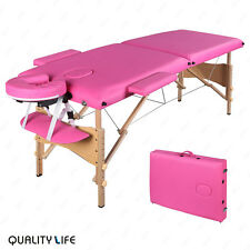 "84""L Pink Portable Fold Massage Table Facial SPA Beauty Bed Tattoo W/ Carry Case"