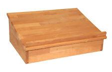 Großes Tischpult mit Ablagefach, Lesepult, Tischaufsatz, Massivholz Buche, geölt