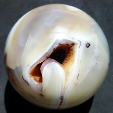 A++ HUGE RARE 1.78LB 86mm Natural Agate CRYSTAL SPHERE BALL
