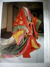 FREE SHIP! Japan Antique Kimono Samurai Clothes 12 juni hitoe Noble Heian Book