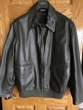HERMES Men's Reversible Lambskin Leather Jacket 46