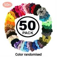 50 Pcs Girls women Velvet Girls Hair Scrunchies Elastic bands Scrunchy Ties EM