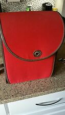 Beautiful Pottery Barn Red Picnic Backpack with Plastic Picnic-ware Set