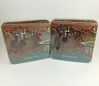 Sportsman's Park Horseracing Drink Coasters Barware Vintage NEW Sealed 2 4-Packs