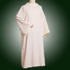 Clergy Hooded White Alb Catholic Church Deacon Robe Worship Vestments D006 SZ: L