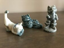 Wade England Cat Figurines 1st Issue Whimsies 2 Cracker CollectionLot of 3