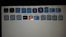 100 x  WINDOWS 7 i3 i5 Intel Nvidia AMD STICKER LOGO BADGE DECAL