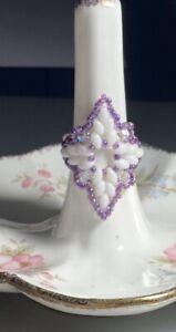 Handmade Beaded Diamond Duo Ring