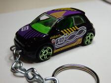 Hot Wheels Fiat 500 Nuovo Keyfob Keychain Keyring