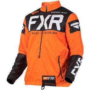 FXR Mens Snow Jacket Cold Cross Rr Pullover Orange/Black/White