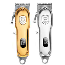 Resuxi Rechargeable Cordless Hair Clipper Trimmer Professional Barber Gold LED