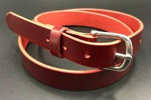 "1-1/2""Casual Plain Heavy Duty Real Wickett & Craig Leather Dress Belt Amish Made"