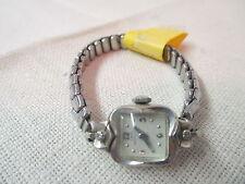 Vintage Lady Hamilton Wrist Watch 10K white Gold 22 Jewels 2 Diamonds Runs