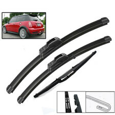 XUKEY Front Rear Wiper Blades For Mini Cooper S One D Hatch R50 R53 2001-2004
