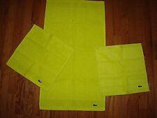 LACOSTE SUPIMA CITRUS HAND TOWEL & 2 WASH TOWELS SET