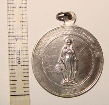 ANTIQUE STERLING SILVER DEC 1891 MEDAL MARY CONCEIVED WITHOUT SIN PENDANT 1830