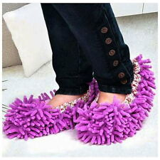 Home Mop Sweep Floor cleaning duster cloth housework lazy soft Slipper shoes UK