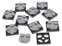 LEGO - 10 x flache Drehscheibe 2x2 schwarz hellgrau / 3680c02 3680 3679 NEUWARE