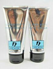 (2) Bath & Body Works Super Soft Spa Foot Cream Shea Butter Eucalyptus 6oz New