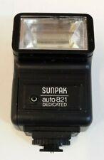 Sunpak Auto821 Dedicated Pentax Electronic Camera Flash VGC Tested