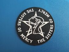 PUNK ROCK HEAVY METAL MUSIC SEW / IRON ON PATCH:- THE SISTERS OF MERCY