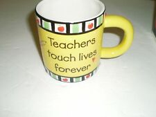 Burton Teachers Touch Lives Forever Mug Cup NIB