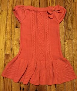 GYMBOREE Right Meow Dress Orange Short Sleeve Ruffle Zipper Pockets Sz 4 6 7 NEW