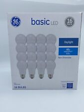 GE LED House Light Bulb Indoor 60 Watt Equivalent A19 Daylight Home 16 Pack