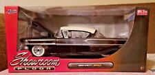 Jada Toys 1958 Chevy Impala 1:24 Black Diecast Car Showroom Floor