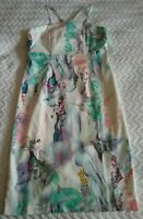BARDOT JNR GIRLS PENCIL DRESS WITH CROSSBACK STRAPS SIZE 14. NEEDS SMALL REPAIR
