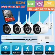 Wireless Home Security System WIFI 4CH CCTV IP Camera 1080P 1TB NVR Kits Outdoor