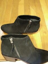 Sam Edelman Black Suede Ankle  Bootie-Sz. 7.5-Western Inspired Casual Chic!