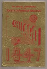 19th Annual Conference Society of American Magicians Souvenir Program 1947