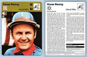 Herve Filion - Horse Racing - 1977-9 Sportscaster Rencontre Card