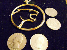 bling gold plated cat MERCURY CAR cougar fashion pendant charm necklace JEWELRY