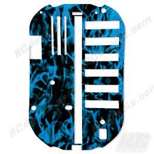 Tamiya Bathtub Chassis TT01 51001 Protector Graphics Thick - Flames Blue