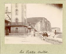 France, Les Petites Dalles, La promenade, ca.1895, Vintage citrate print vintage