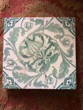 Original Victorian Poppy Flower Art Nouvelle  Tile