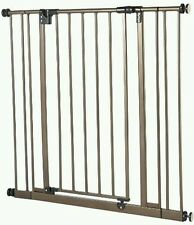 North States Supergate Easy Close Metal wide walk thru Baby Pet Safety Gate