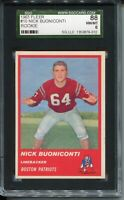 1963 Fleer Football #10 Nick Buoniconti Rookie Card RC Graded SGC NM MINT 88 8