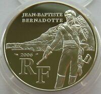 France ¼ Euro 2006 Bernadotte Silver Proof Coin COA
