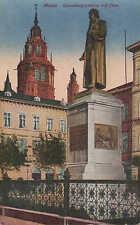 Mayence/MAYENCE vue carte 1920, Gutenberg-Monument rhin-pont bateaux