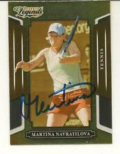 Martina Navratilova Signed Autographed 2008 Donruss Sports Legends Card